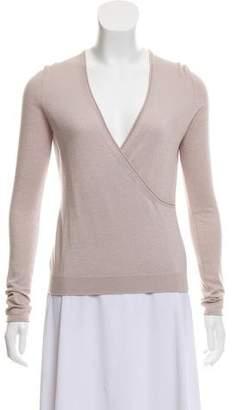 Saint Laurent Wool-Blend Long Sleeve Top