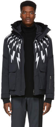 Neil Barrett Black Lightening Bolt Ski Jacket