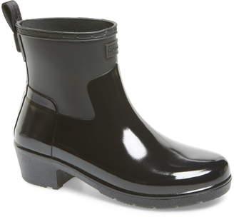 Hunter Refined Mixed Finish Waterproof Rain Boot