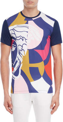 Versace Multicolored Logo Tee