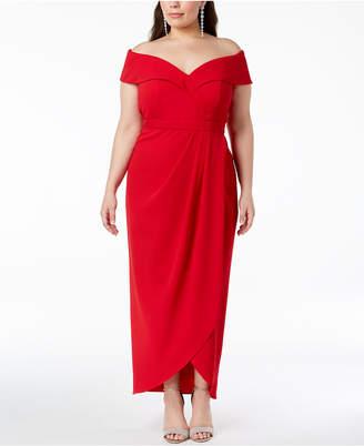 Xscape Evenings Plus Size Off-The-Shoulder Gown