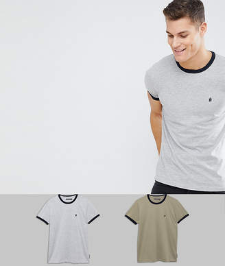 French Connection Ringer 2 Pack T-Shirts