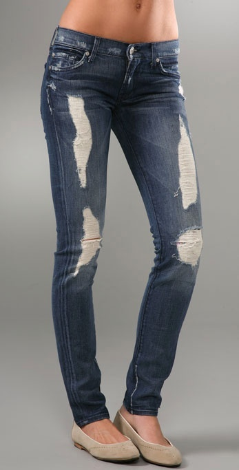 7 For All Mankind Roxanne Skinny Slimmer Jeans with Liberty Print Lining