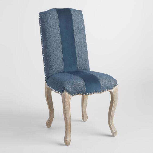 Blue Belmond Upholstered Dining Chairs Set of 2