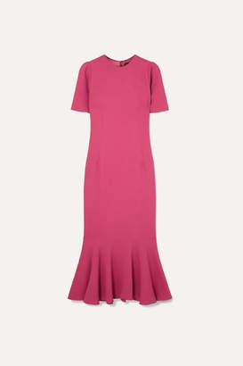 Dolce & Gabbana Fluted Stretch-crepe Midi Dress