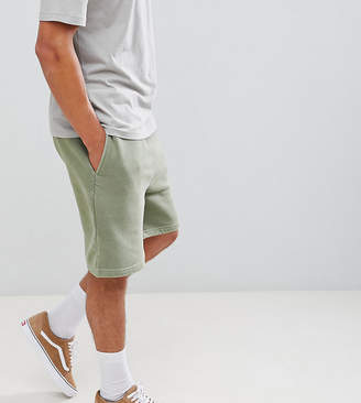 Reclaimed Vintage inspired overdye short in khaki