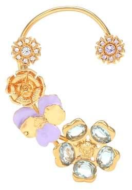 Versace Embellished single ear cuff
