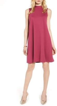 Halogen Mock Neck Sleeveless Ponte Shift Dress