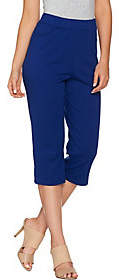 Bob Mackie Bob Mackie's Pull-On Knit Crop Pants withPockets