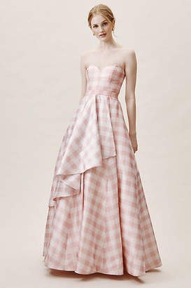 Anthropologie Tosia Gingham Wedding Guest Dress