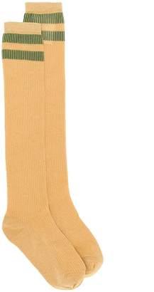 RED Valentino long lurex stripe socks