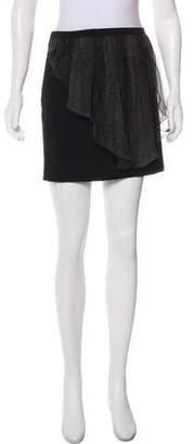 Christopher Kane Silk-Trimmed Mini Skirt