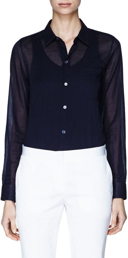 Theory Perfect Shirt in Cotton Lawn