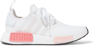 adidas Originals - Nmd_r1 Rubber-paneled Mesh Sneakers - White $130 thestylecure.com