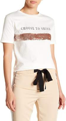 OnTwelfth Choose To Shine Sequined Tee