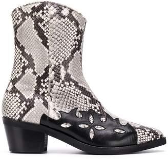 Coliac cowboy ankle boots