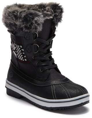 Northside Brookelle Faux Fur Lined Lace-Up Boot