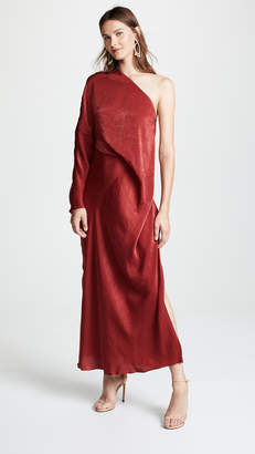 Esteban Cortazar Asymmetrical Draped Dress