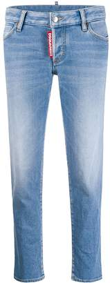 DSQUARED2 low-rise logo tag cropped jeans