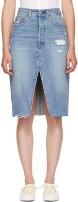 Levi's Levis Blue Denim Deconstructed Skirt