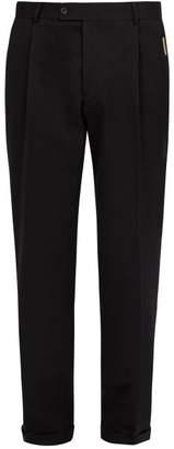 Ribeyron - Cotton Gabardine Trousers - Mens - Black