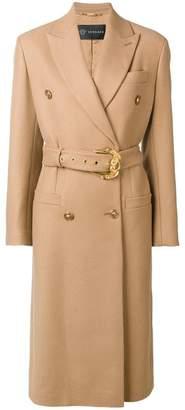 Versace midi belted coat