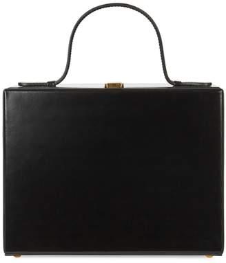 Mark Cross Rear Window Overnight Leather Box Bag