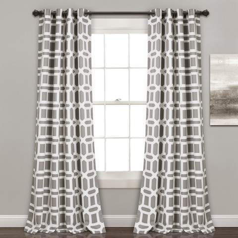 Sequoia Geo Room Darkening Window Curtain Panels 52