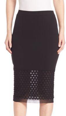 Fuzzi Mesh Inset Skirt $320 thestylecure.com