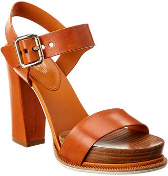 Tod's Buckled Leather Sandal