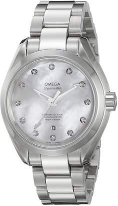 Omega Women's 'Aqua Terra' Swiss Quartz Stainless Steel Dress Watch (Model: 23110342055002)