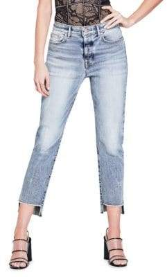 GUESS Authentic It Girl Raw Hem Jeans