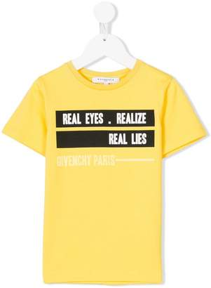 Givenchy Kids slogan patch T-shirt