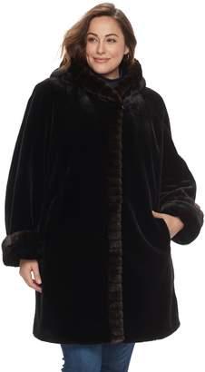 Gallery Plus Size Faux-Fur Jacket