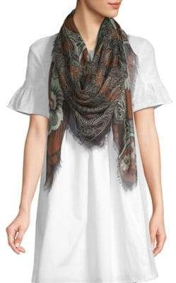Valentino Printed Cashmere Silk Shawl