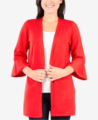 NY Collection Bell-Sleeve Cardigan