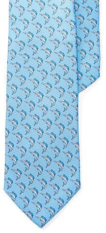 Polo Ralph LaurenPolo Ralph Lauren Marlin-Print Silk Narrow Tie