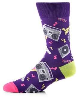 Yo Sox Ghetto Blaster Crew Socks