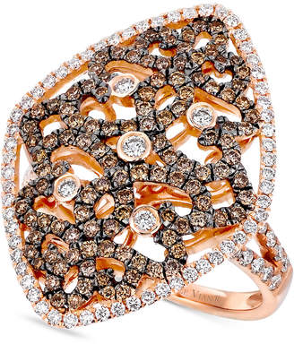 LeVian Le Vian Chocolatier Diamond Filigree Ring (1-1/4 ct. t.w.) in 14k Rose Gold