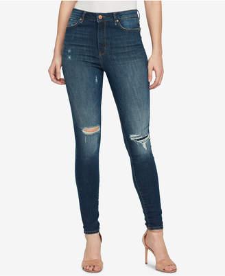 William Rast Super-Skinny High-Rise Ripped Jeans