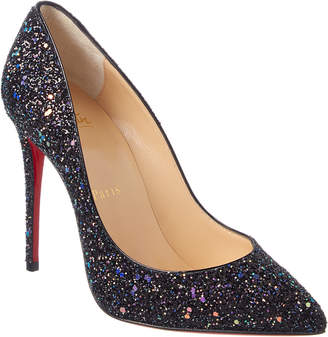 Christian Louboutin Pigalle Follies 100 Glitter Leather Pump
