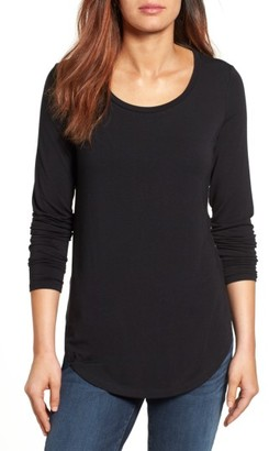 Petite Women's Halogen Long Sleeve Knit Tunic $39 thestylecure.com