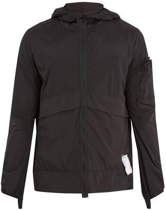 Satisfy Self-stowing shell windbreaker jacket