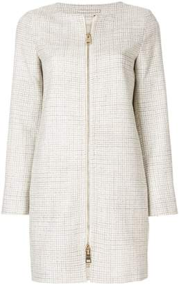 Herno straight-fit zipped coat