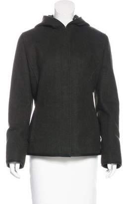 Prada Sport Wool Hooded Jacket
