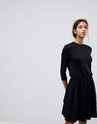 Selected Knit Peplum Dress