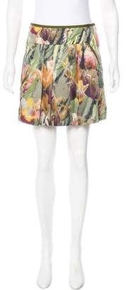 Ted Baker Pleated Floral Print Skirt