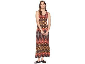 Karen Kane Desert Print Side Slit Maxi Dress