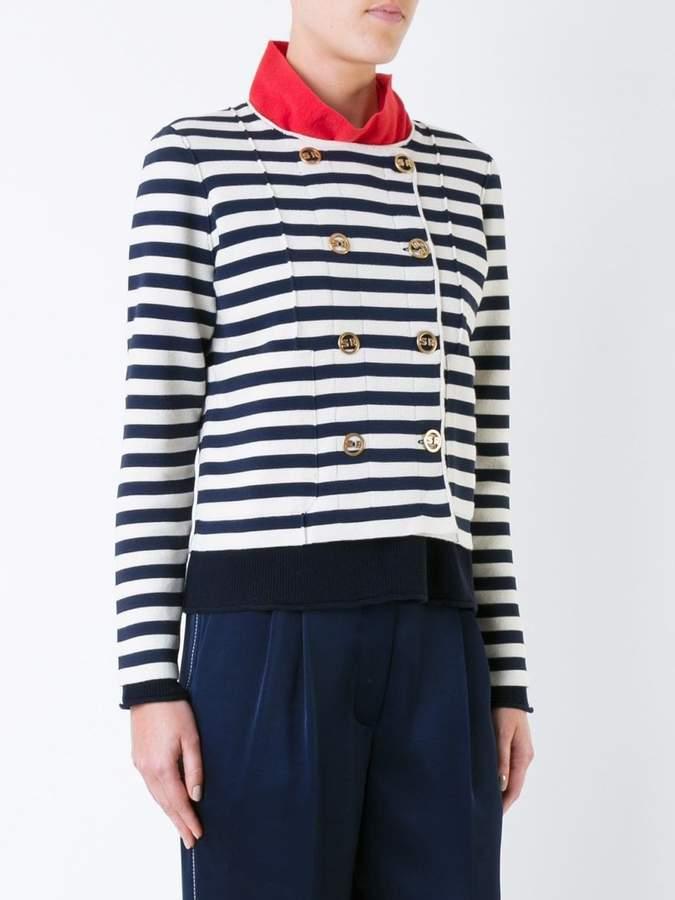 Sonia Rykiel striped fitted jacket