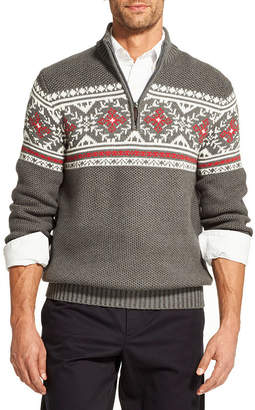 Izod Fairisle Quarter-Zip Sweater